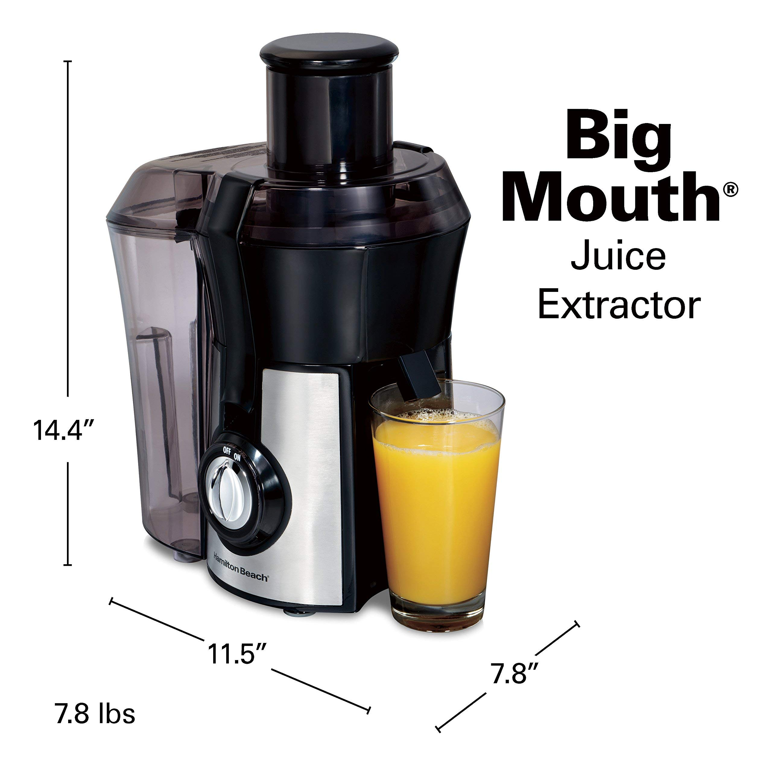 Hamilton Beach 040094922635 (67608A) Juicer, Electric, 800 Watt, Easy to Clean, BPA Free, Large, Silver (Renewed) by Hamilton Beach (Image #7)