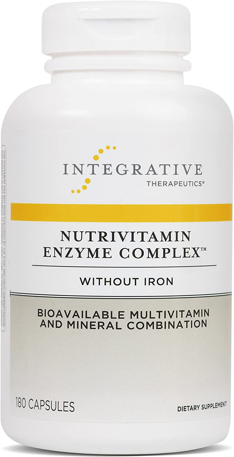 Integrative Therapeutics – Nutrivitamin Enzyme Complex without Iron – Bioavailable Multivitamin and Mineral Combination – 180 Capsules