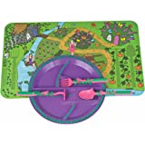 Constructive Eating - Garden Fairy Combo with Utensil Set, Plate, and Placemat