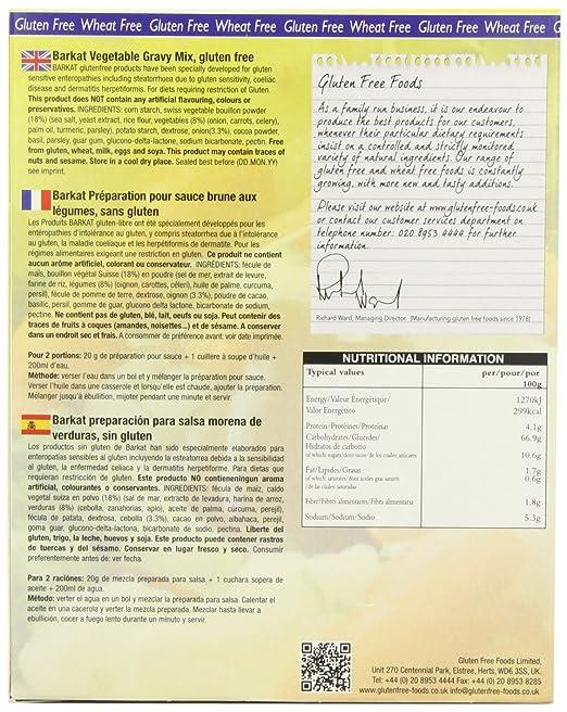 Amazon.com : Barkat - Gluten Free Vegetable Gravy Mix - 250g (Case of 6) : Grocery & Gourmet Food
