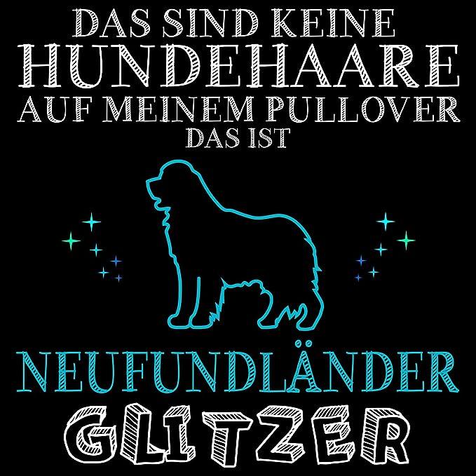 Neufundländer Glitzer Herren Kapuzen Pullover Hoodie Spruch Rasse Hunde Besitzer