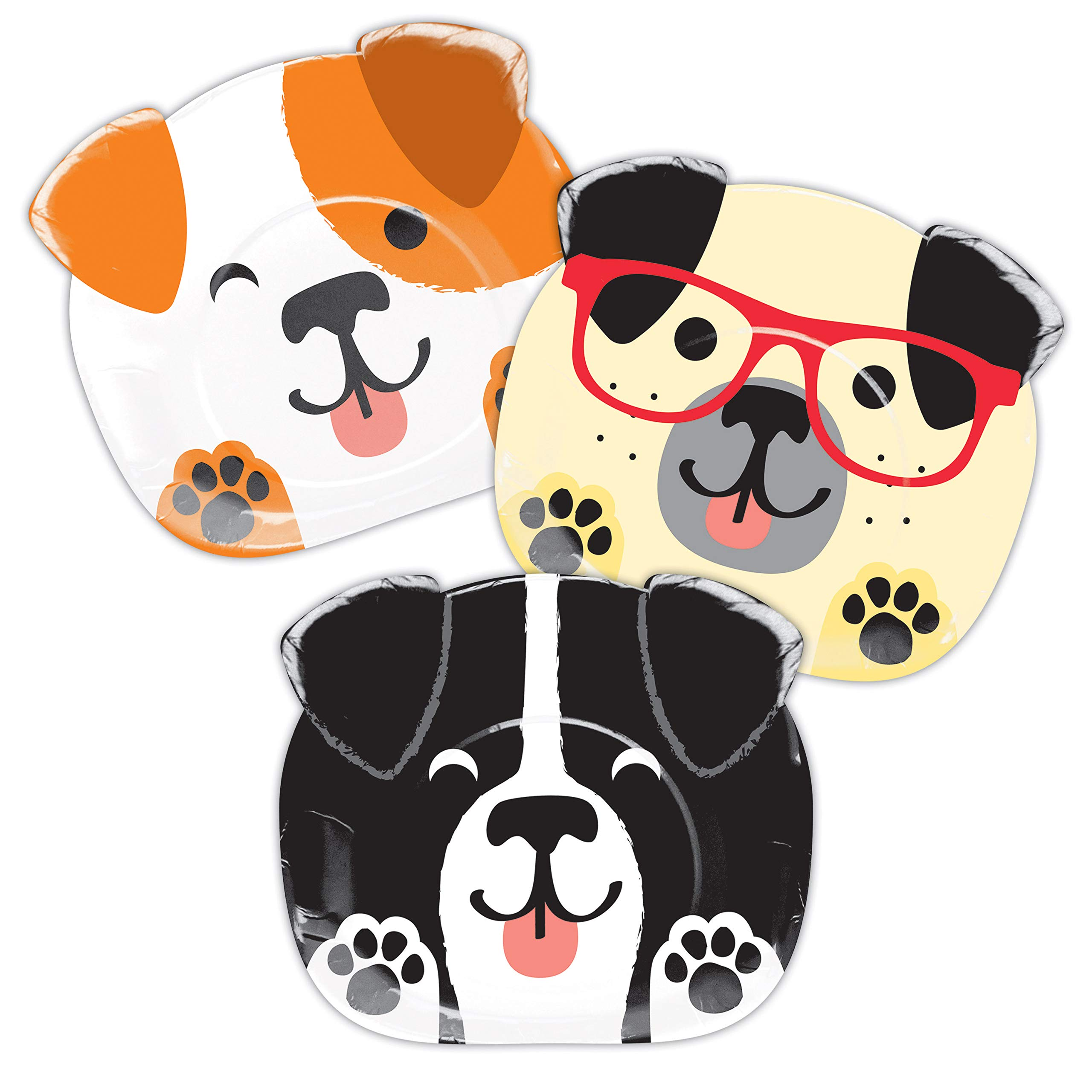 Dog Party Shaped Dinner Plates, 24 ct by Creative Converting