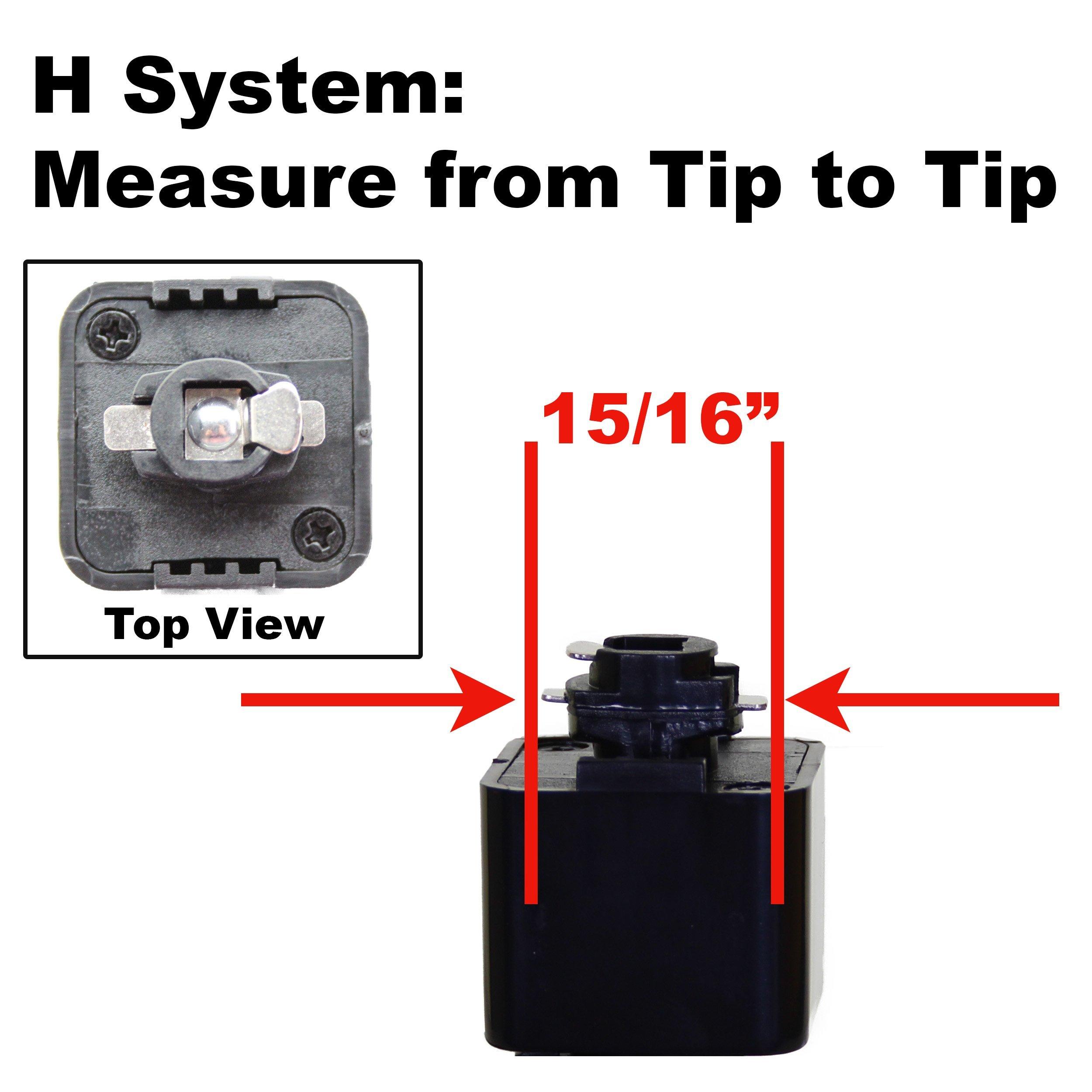 Direct-Lighting Brand H System 3-Lights GU10 LED 7.5W LED (500 lumens Each) Track Lighting Kit Black 3000K Warm White Bulbs Included HT-50154L-330K (Black) (Renewed)