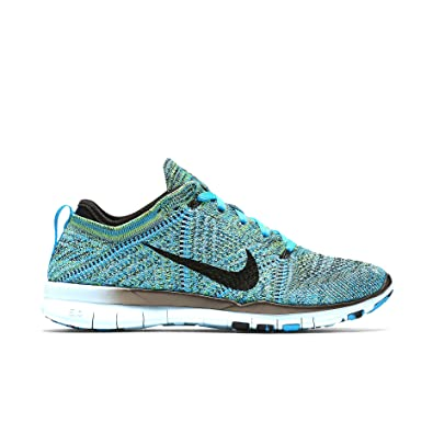 buy online 4e8e5 1397a Amazon.com   Nike Womens Free Training Flyknit Running Shoes, Blue Lagoon  Black-copa 8   Road Running