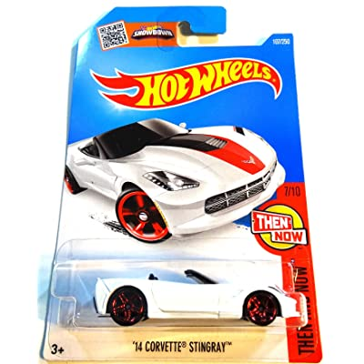 Hot Wheels, 2016 Then and Now, Corvette Grand Sport Roadster [White] #102/250: Toys & Games