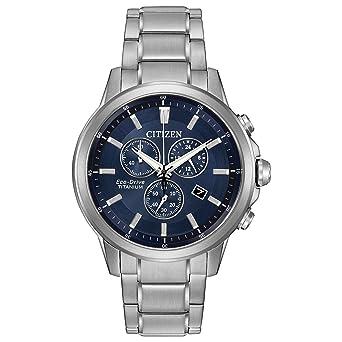 d98345c13 Amazon.com: Citizen Eco-Drive Men's 'Titanium' Quartz Casual Watch, Color:  Silver-Toned (Model: AT2340-56L): Watches