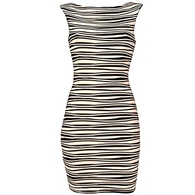 3d4e24807694 Lipsy Womens Womens Ripple Bodycon Dress in Black - 8: Lipsy: Amazon.co.uk:  Clothing