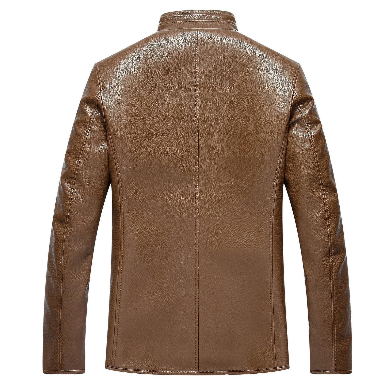 Oyvind Norberg? Men's Stand Collar Classic Black Lambskin Split Leather Biker Jacket