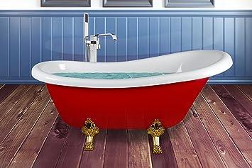 Pavimento Rosso Lucido : Akdy cm stile gotico gambe oro lucido finitura acrilico