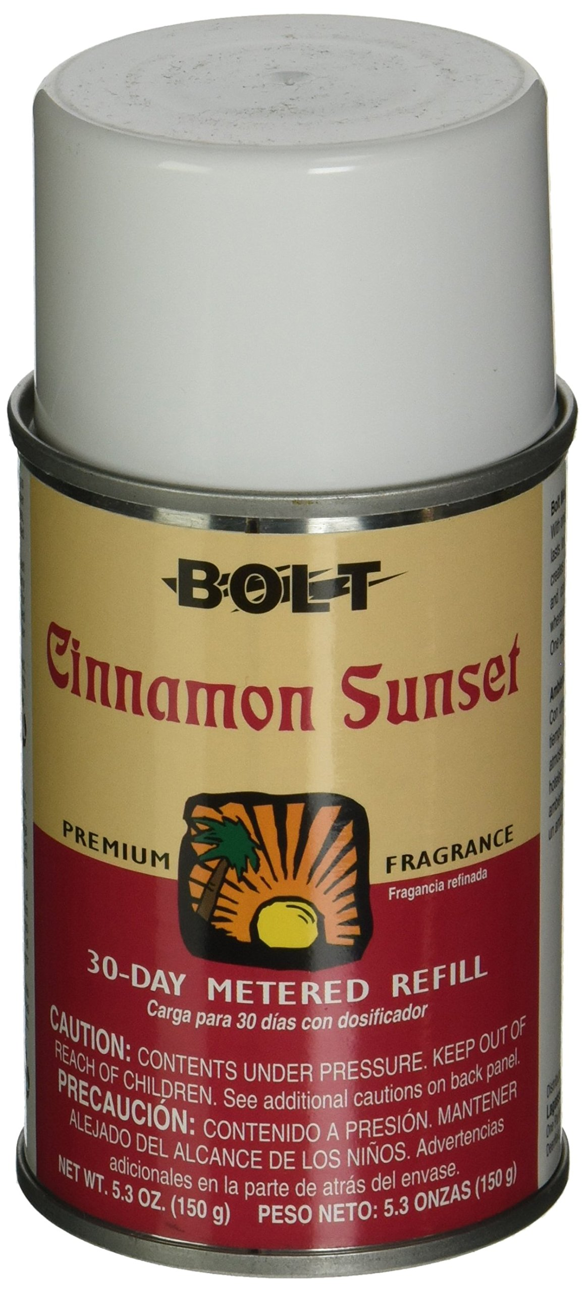 Bolt BLT 862 5.3 oz Air Freshener With Odor Eliminator Counteractant Refill, Cinnamon Sunset (Case of 12)