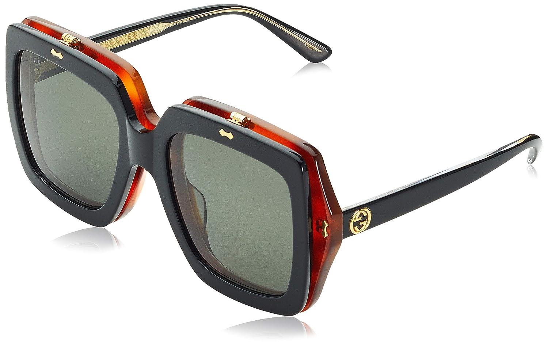 54f2e8dd17 Amazon.com  Sunglasses Gucci GG 0088 S- 002 BLACK GREY  Clothing