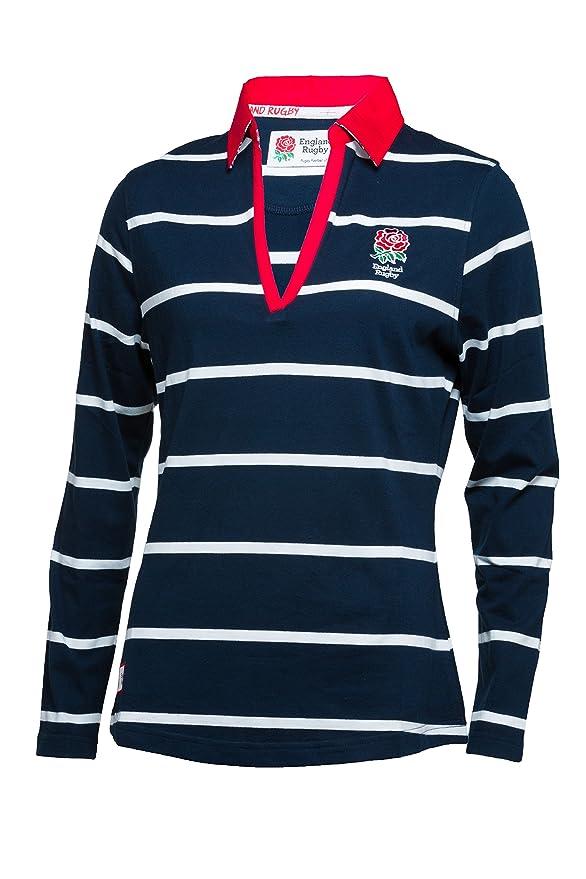 Inglaterra Rugby Camiseta de Rugby de Rayas de Manga Larga para ...