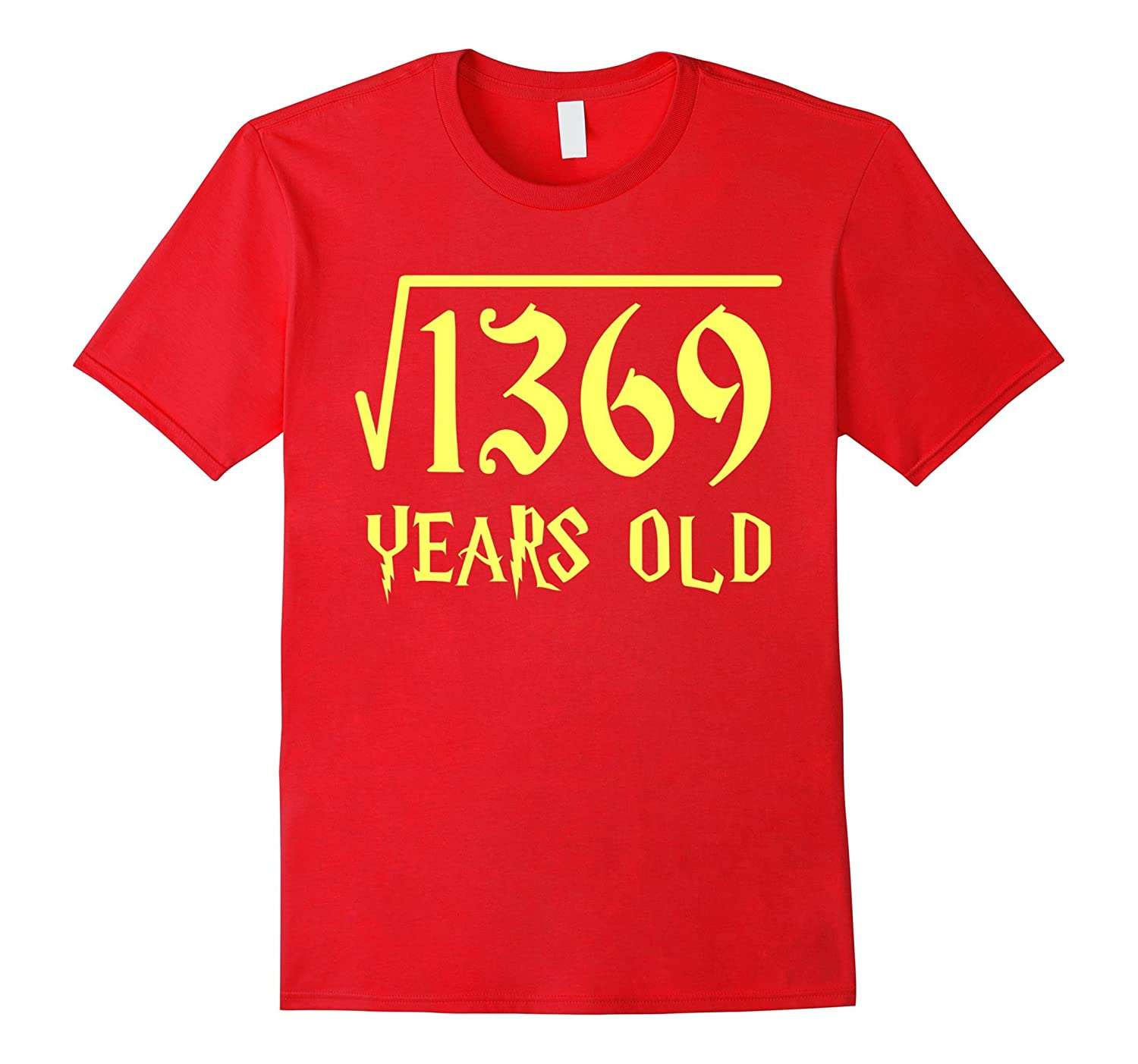 Square Root of 1369 37 Years Old 37th Birthday T-Shirt-CL