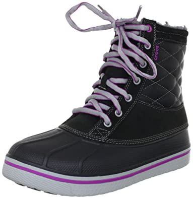 crocs AllCast Leather Duck 12802 Damen Chukka Boots