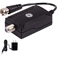 GE Indoor TV Antenna Amplifier Low Noise Antenna Signal Booster Clears Up Pixelated Low-Strength Channels HD TV Digital…