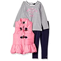 Nautica Baby Girls' 3 Pieces Vest Set
