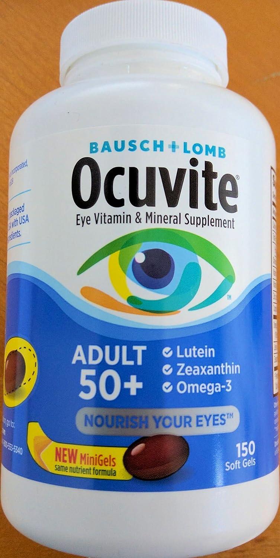 [Bausch & Lomb] Ocuvite Adult 50+ Eye Vitamin & Mineral Supplement - 150粒 B00E02WAMK