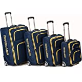 Rockland Luggage Varsity Polo Equipment 4 Piece Luggage Set, Navy, One Size