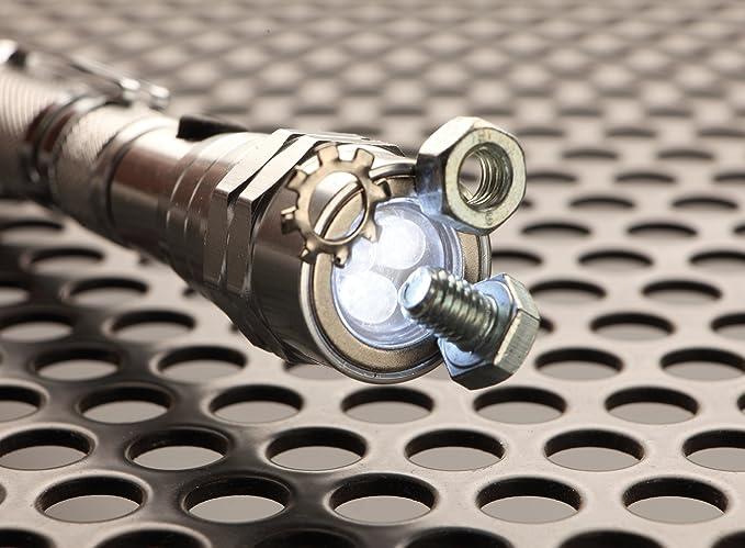 Unitec 77893 led teleskop taschenlampe mit magnet schwarz: amazon