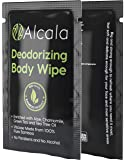 Deodorizing Body Wipes Pure Bamboo with Tea Tree Oil, Individually Wrapped Biodegradable Shower Wipes, Extra Large 10…