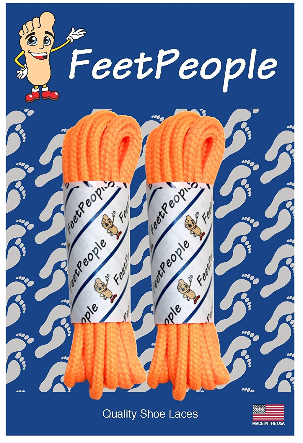 Various Colors and Lengths FeetPeople Round Shoe Laces for Boots//Shoes