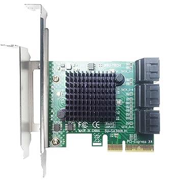 Glotrend - Tarjeta adaptadora PCIe 2.0 a SATA III para Dispositivos de minería y adición de IPFS SATA 3.0 SA3006.