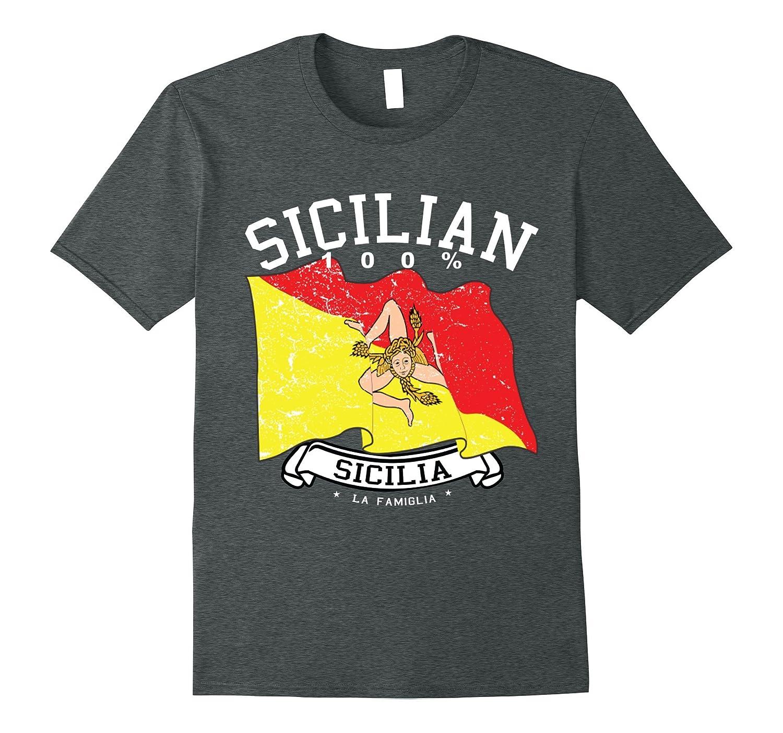 100% Sicilian Flag Trinacria Pride Sicily Homeland Shirt-FL