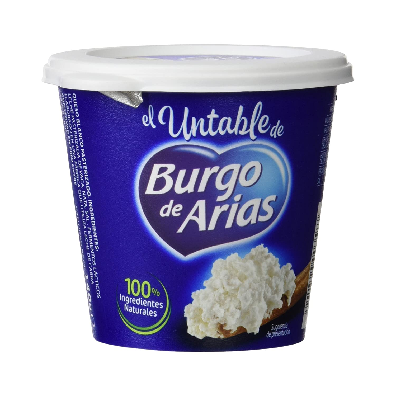 Burgo De Arias - Queso Crema Untable Natural - 140 g: Amazon.es: Alimentación y bebidas