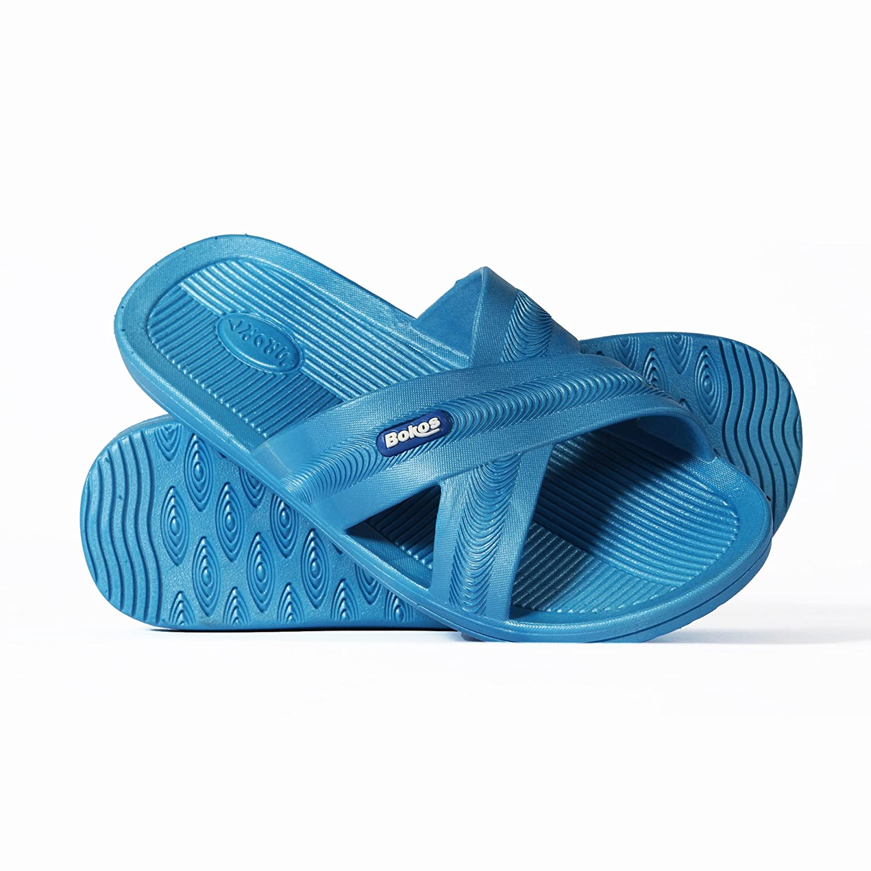 Bokos Women's Rubber Slide Sandals B00DJGN2N4 6 B(M) US Carolina Blue