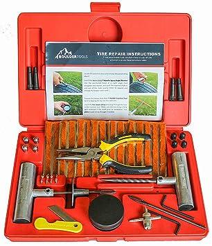 Boulder herramientas – 56 pc Heavy Duty Kit de reparación de neumático para coche, camión