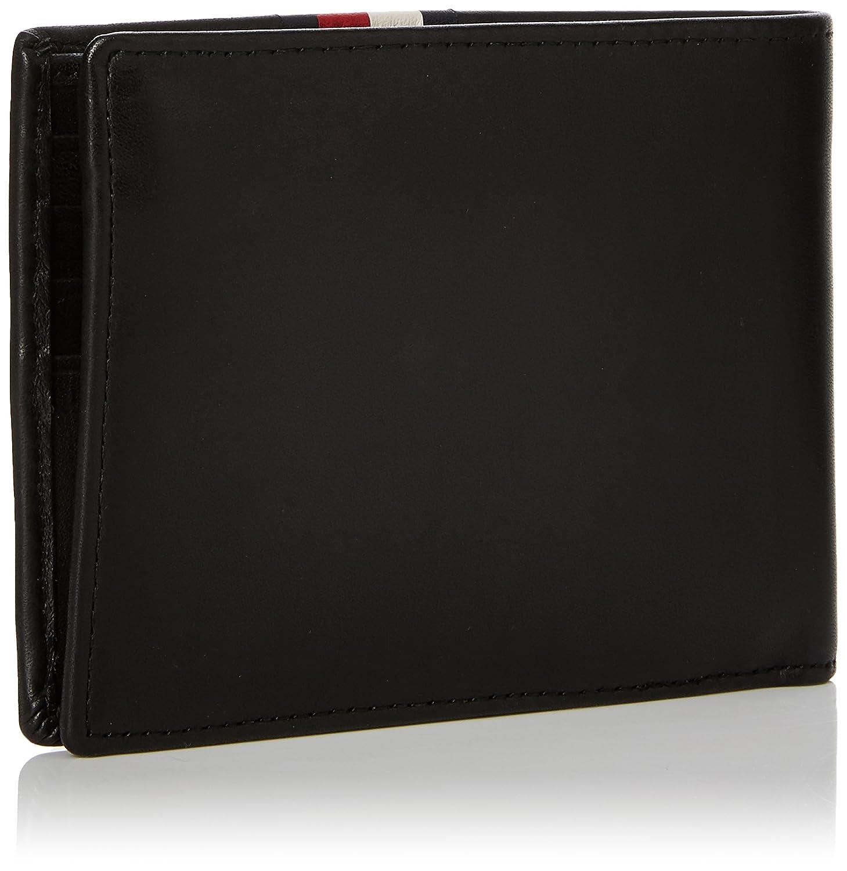 Tommy Hilfiger Stripe Extra Cc & Coin, Portefeuilles homme, (Black), 0.1x9.5x13.5 cm (B x H x T)