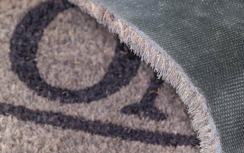 Home XS Noire 75 x 26 cm Tapis Entree BSM 2000 Paillasson Exterieur Fibres de Coco Large Choix de Motifs Antid/érapant