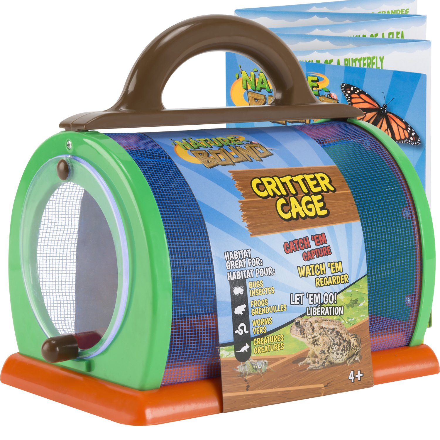 Nature Bound Critter Cage Bug Catcher Habitat Kit with Activity Booklet, Green, 8.5'' x 5.75'' x 8''