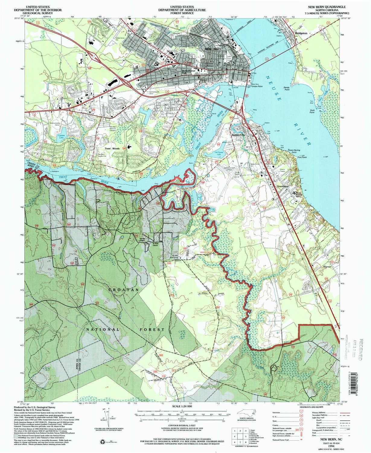Amazon Com Yellowmaps New Bern Nc Topo Map 1 24000 Scale 7 5 X