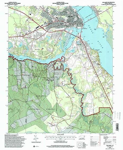 Amazon Com Yellowmaps New Bern Nc Topo Map 1 24000 Scale 7 5 X