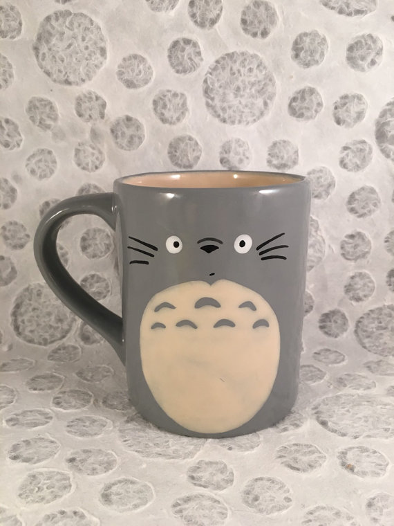 Totoro Inspired Mug by HandPaintedNerd​ on Etsy
