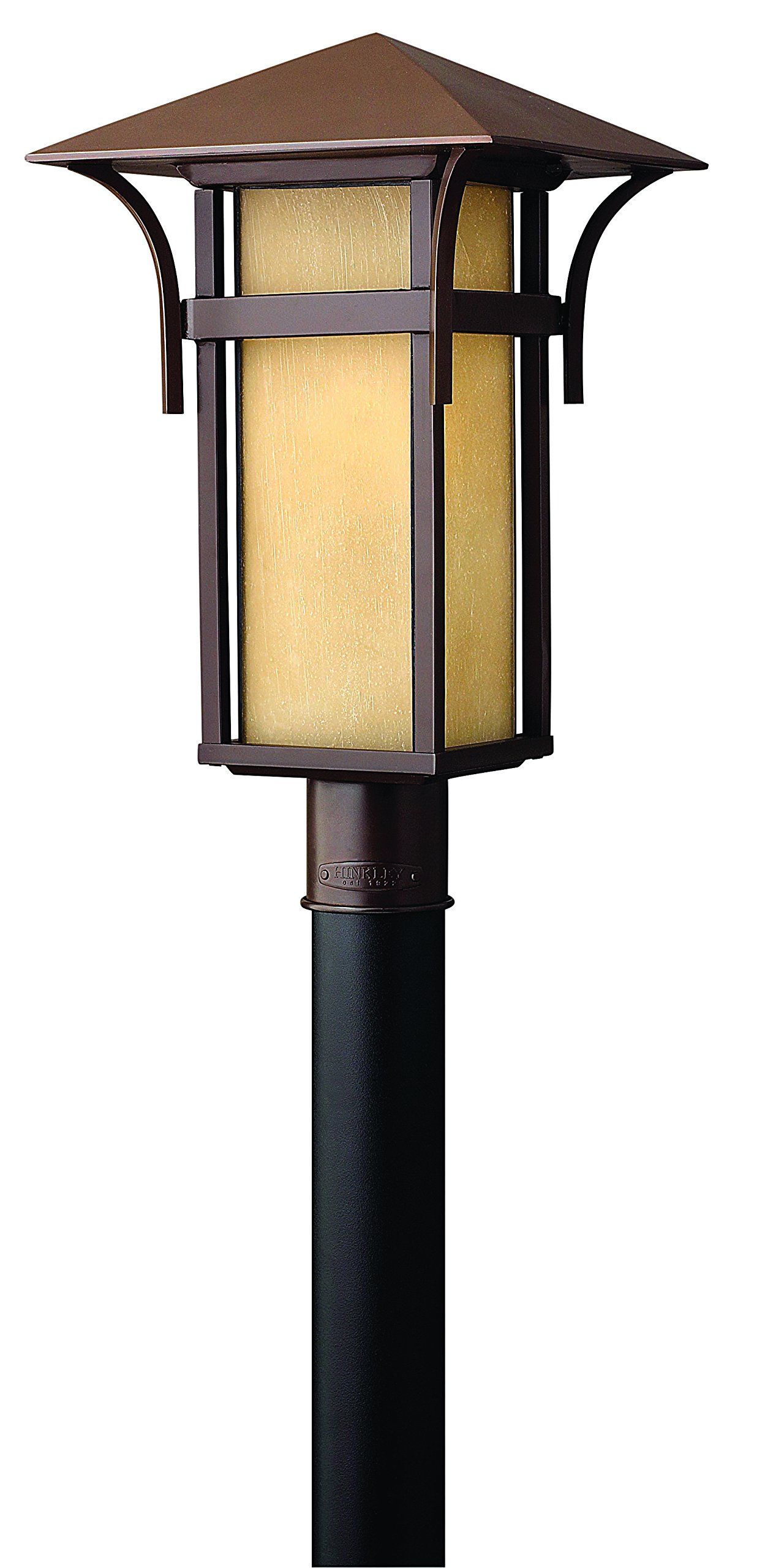 Hinkley 2571AR Transitional One Light Post Top/ Pier Mount from Harbor collection in Bronze/Darkfinish, by Hinkley