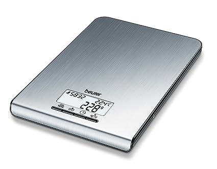 Beurer KS35 - Balanza de cocina de diseño ultraplano (1.8 cm ...