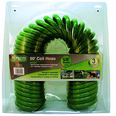 Flexon 50 ft Coiled Garden Hose
