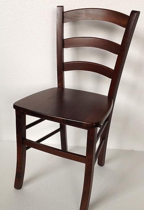 Sedie In Legno Arte Povera.Sedie Sedia In Legno Noce Arte Povera Per Cucina Soggiorno Classica