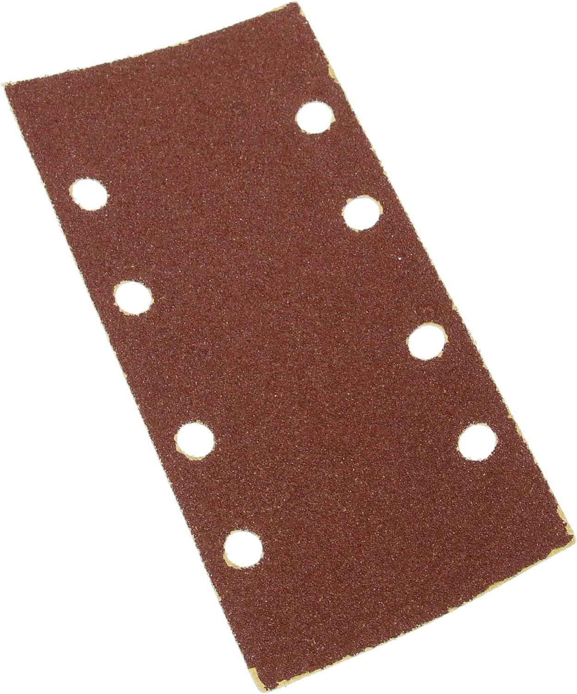 Silverline 282540 Grano 60 10 pzas Hojas de lija perforadas autoadherentes 93 x 190 mm