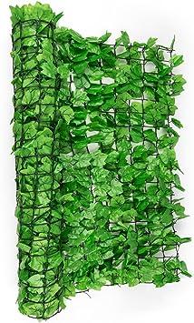 Blumfeldt Fency Dark Ivy Valla de protección Visual y Anti Viento (Malla sombreo 300x100 cm, Cubierta Exterior sombreadora, Pantalla privacidad balcón terraza jardín, imitación Hiedra Verde Claro): Amazon.es: Jardín