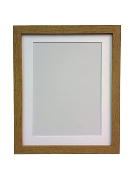 FRAMES BY POST H7 Picture Photo Frame, Wood, Oak with White Mount ...