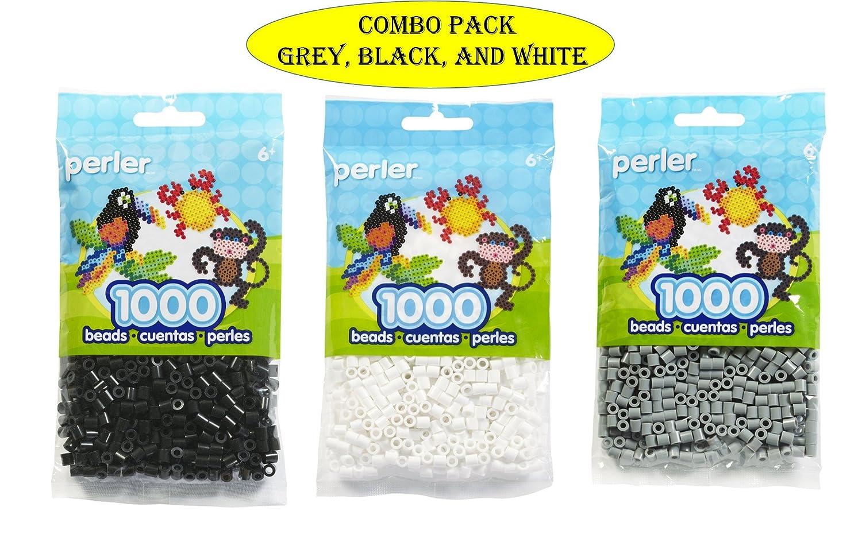 Canutillos Beads 3000 Unidades (blancas, Negras Y Grises)