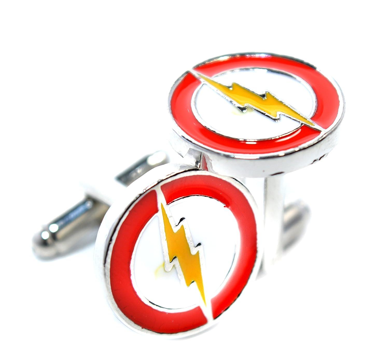 Flash, Beleuchtung Manschettenknöpfe inspiriert–The Flash–Superhero Shirt Zubehör für Herren RJ