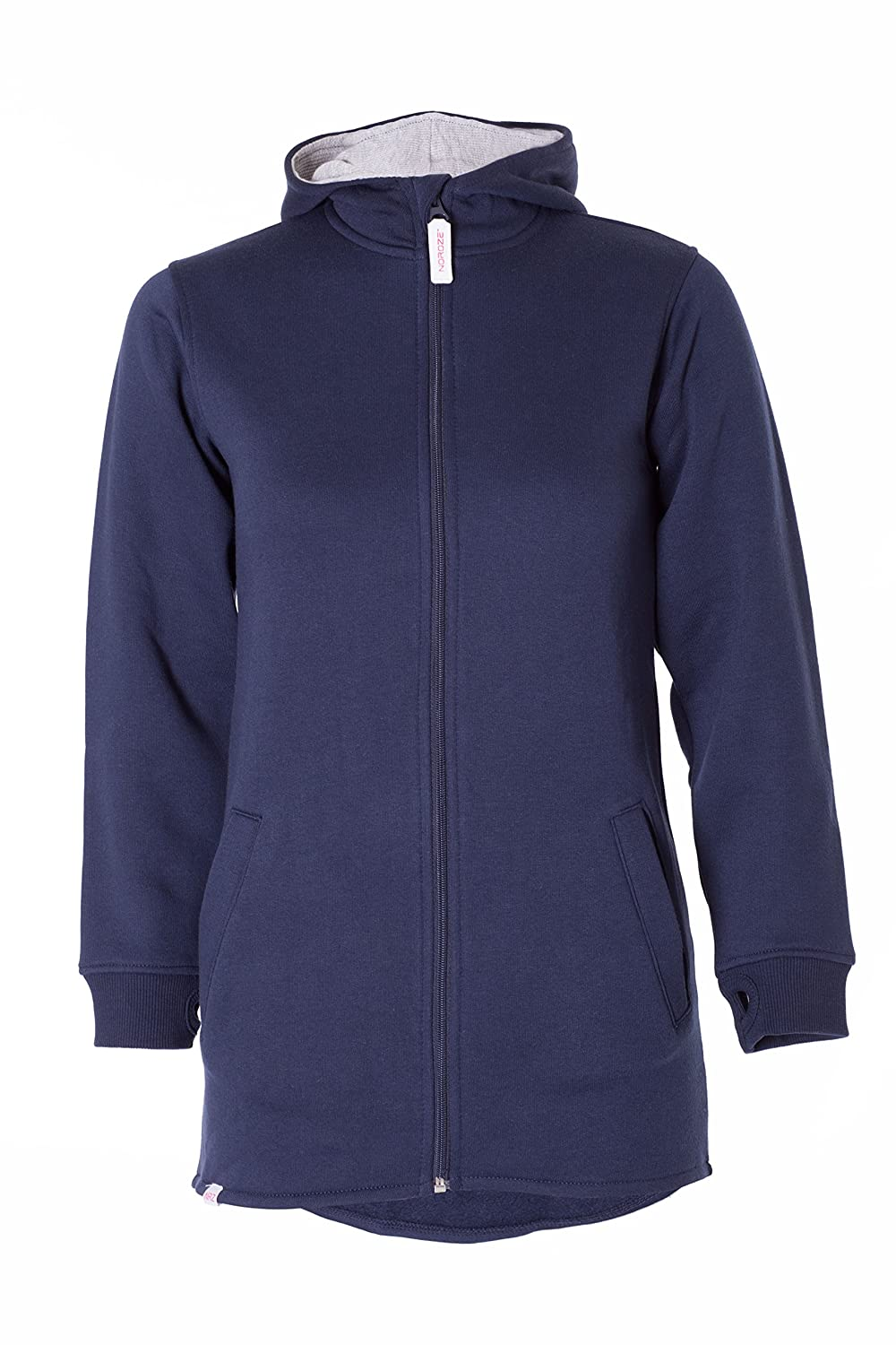 Girls Plain High Low Long Hoodie