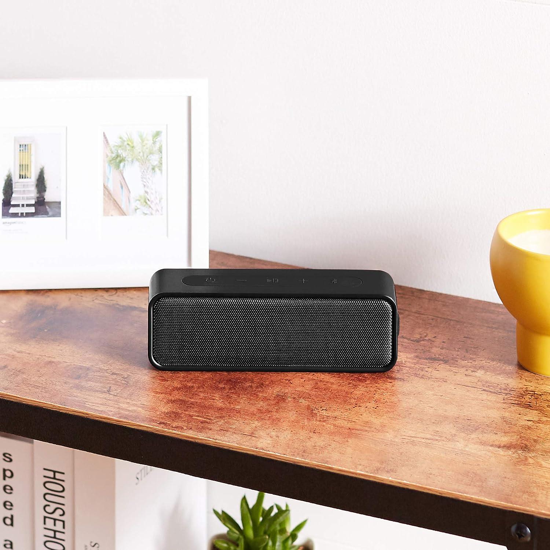 Amazon Basics Bluetooth Stereo Lautsprecher Mit Wasserabweisendem Design 9 W Schwarz Audio Hifi