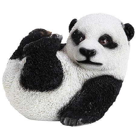 Realistic Polyresin Baby Panda Bear Garden Ornament