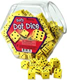 Learning Resources Soft Foam Dot Dice - Set of 200