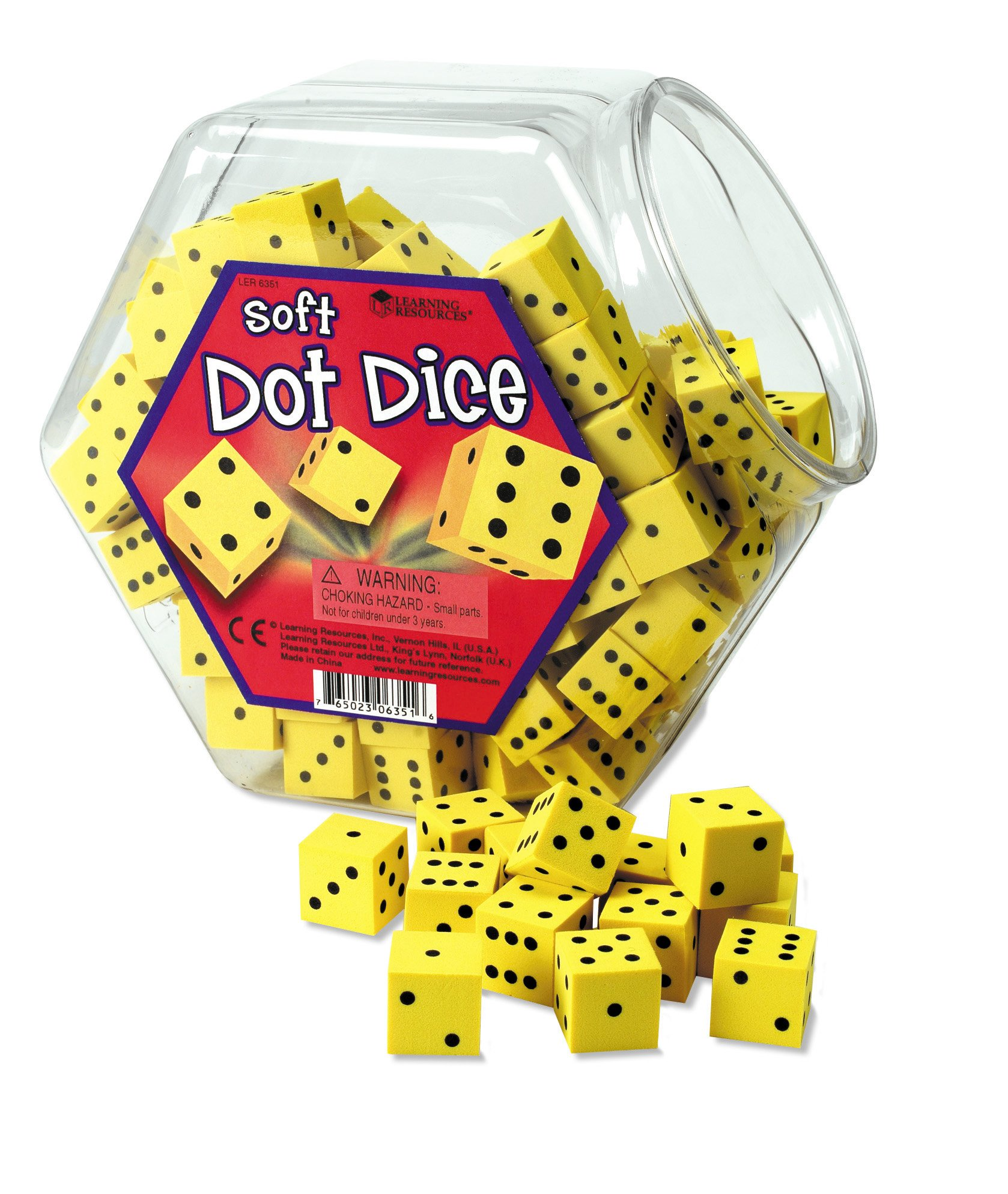 Learning Resources Hands-On Soft Dot Dice Bucket by Learning Resources